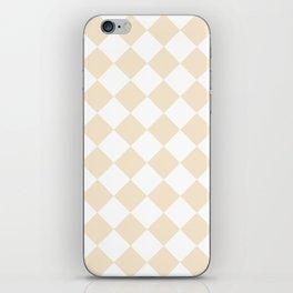 Large Diamonds - White and Champagne Orange iPhone Skin