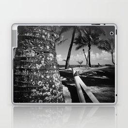 Kuau Beach Palm Trees and Hawaiian Outrigger Canoe Paia Maui Hawaii Laptop & iPad Skin