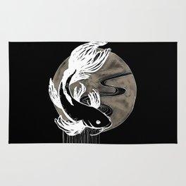 Ink Koi Black Rug