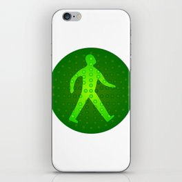 Green Walking Man iPhone Skin