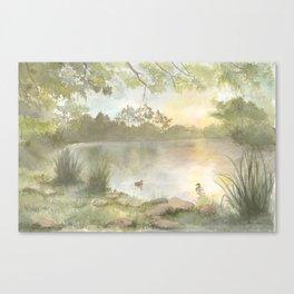 Duck pond Canvas Print