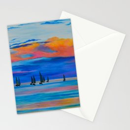I'd Rather Be Sailing by Teresa Thompson Stationery Cards