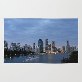 Early Evening River Traffic Rug