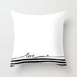 LOVE lines Throw Pillow