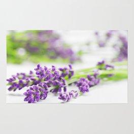 Lavender herb still life Rug