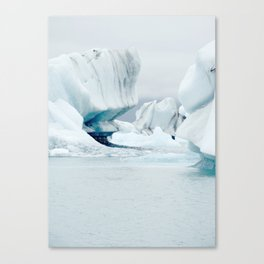 Iceberg blue lagoon Icelandic travel photography Canvas Print
