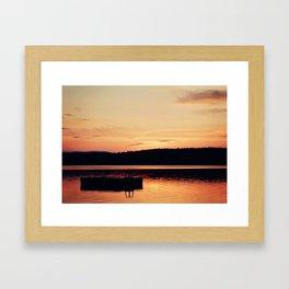 Dock at Dawn Framed Art Print