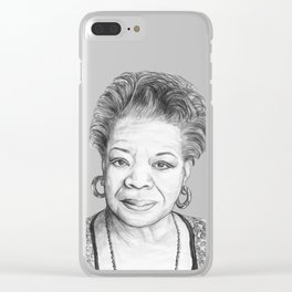 Maya Angelou Clear iPhone Case
