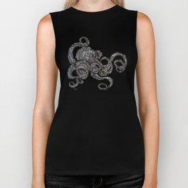 Barnacle Octopus in Black Biker Tank