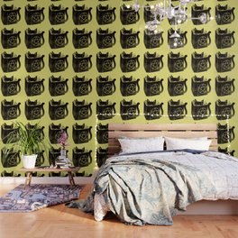 Witchcraft Cat Wallpaper