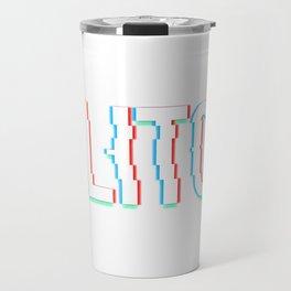 Glitch Effect Travel Mug