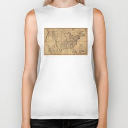 Map of the United States by John Melish (1818) 3rd State Biker Tank
