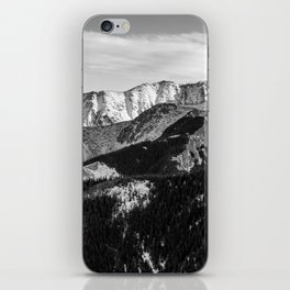 Black and White Mountains iPhone Skin
