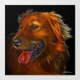 Golden Retriever Pop Art - 4057 Canvas Print