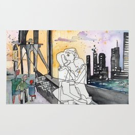 Kissing on the Bridge Rug