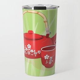 Red Tea Set Travel Mug