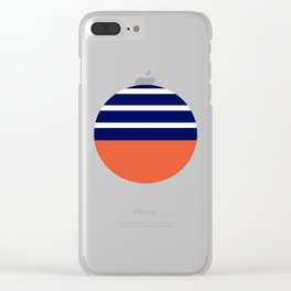 Summer Patio Perfect, Adobe Orange, White & Navy Clear iPhone Case