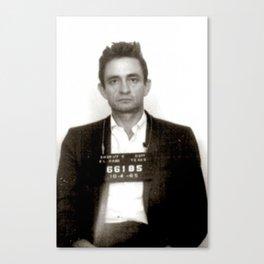 Johnny Cash Mugshot Canvas Print