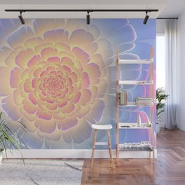 Romantic violet and yellow flower Wall Mural