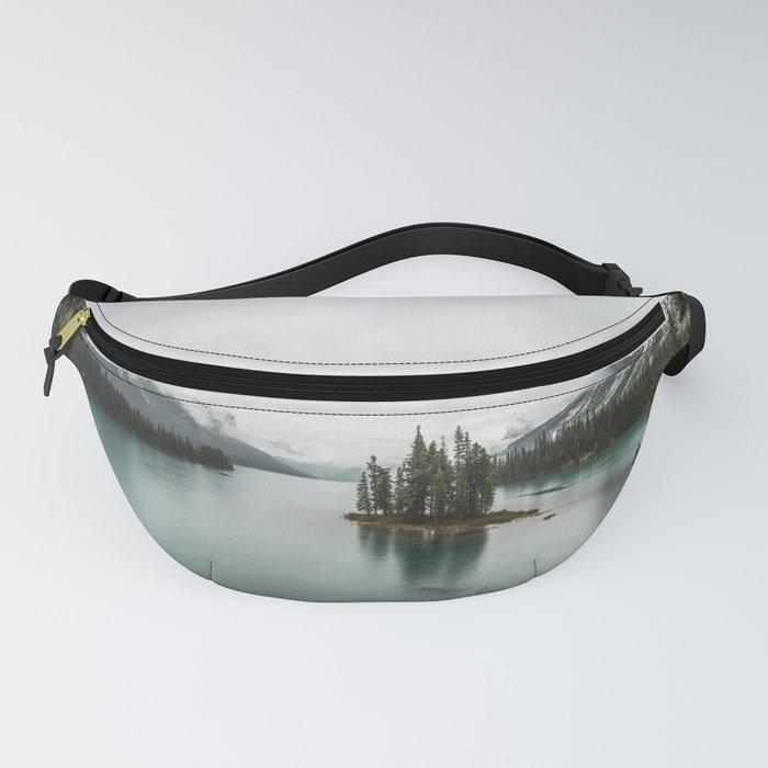 Landscape Photography | Spirit Island | Maligne Lake | Jasper Alberta | Emerald Water | Wall Art Fanny Pack