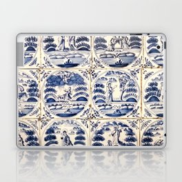 Dutch Delft Blue Tiles Laptop & iPad Skin