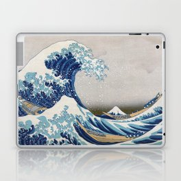 Under the Wave off Kanagawa - The Great Wave - Katsushika Hokusai Laptop & iPad Skin