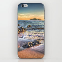 Sunset over Burgh Island from Bantham iPhone Skin