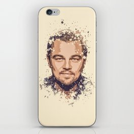 Leonardo DiCaprio splatter painting iPhone Skin
