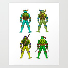 Superhero Butts - Turtles Art Print