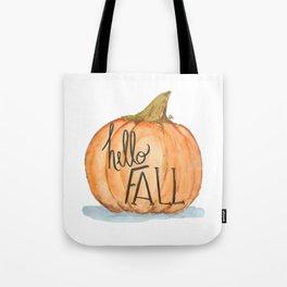 Hello fall pumpkin Tote Bag