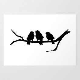 Three Little Birds Art Print