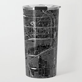 Chicago Black Map Travel Mug