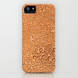Water Condensation 05 Orange iPhone Case