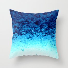 Blue Crystal Ombre Throw Pillow