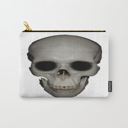 Human Skull Vector Isolated Carry-All Pouch