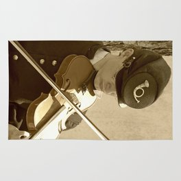 Civil War Fiddle Player Rug