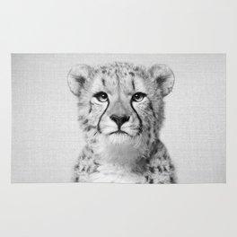 Cheetah - Black & White Rug