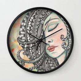 Girl with Tangled Hair Wall Clock