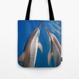 Dolphin Bubbles Tote Bag