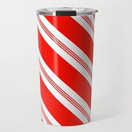 Candy Cane Stripes Holiday Pattern Travel Mug