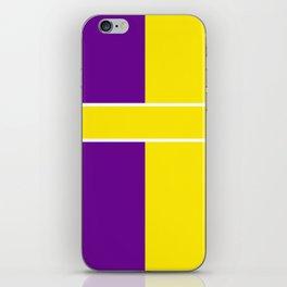 Team Colors 6....Yellow,purple iPhone Skin
