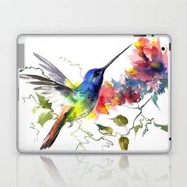 Hummingbird, tropical Foliage, Hawaiian design, tropical, colors Laptop & iPad Skin
