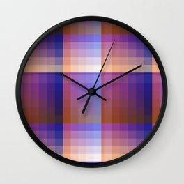 Complimentary Color Harmony ..Blue/orange Wall Clock