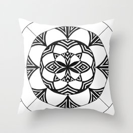 Patterned Flower Throw Pillow