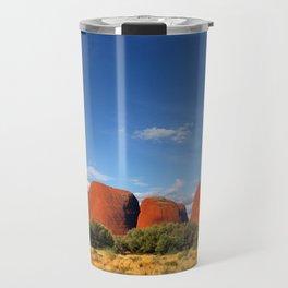 A landscape shot of Kata Tjuṯa / Mount Olga at Uluru in the outback of Australia Travel Mug