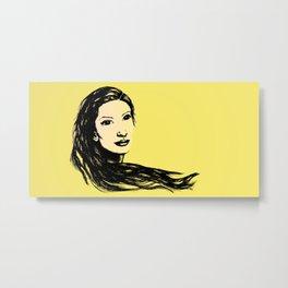 Flow (Yellow) - Digital Metal Print