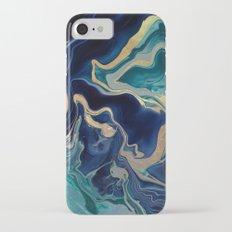 DRAMAQUEEN - GOLD INDIGO MARBLE iPhone 7 Slim Case