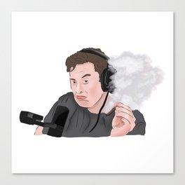 Elon Musk Smoking Weed Meme Canvas Print