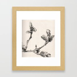 Ink Branch Framed Art Print