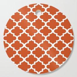 Arabesque Architecture Pattern In Burned Orange Cutting Board